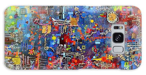 On A Chip Galaxy Case by Regina Valluzzi