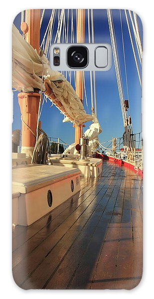 On Deck Of The Schooner Eastwind Galaxy Case by Roupen  Baker