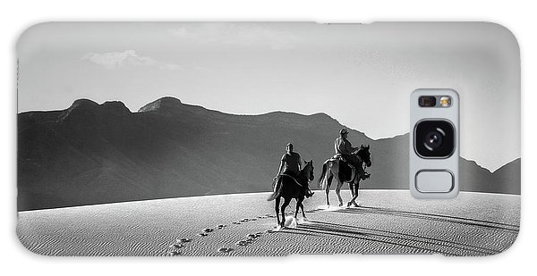 On Horseback At White Sands Galaxy Case