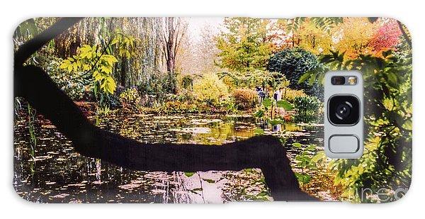 On Oscar - Claude Monet's Garden Pond  Galaxy Case