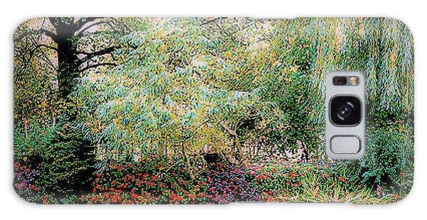 Reflection On, Oscar - Claude Monet's Garden Pond Galaxy Case