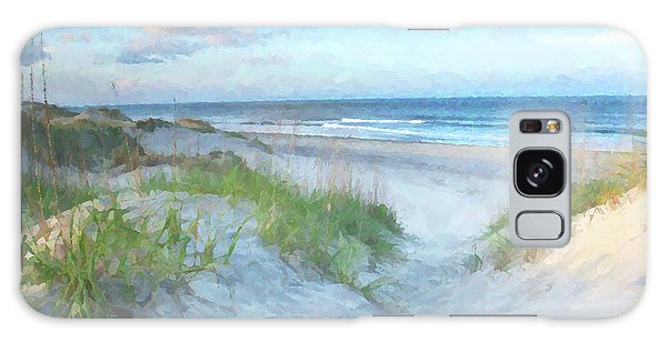 Great Lakes Galaxy Case - On The Beach Watercolor by Randy Steele