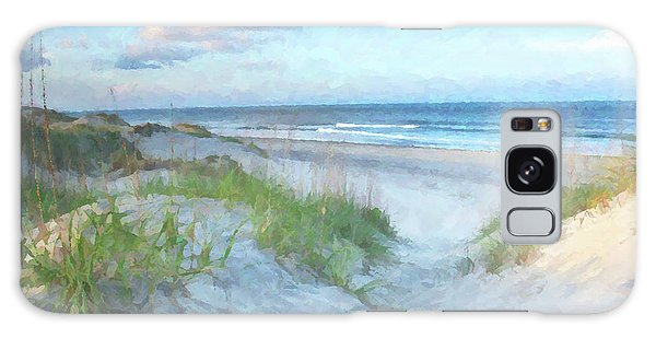 On The Beach Watercolor Galaxy Case by Randy Steele