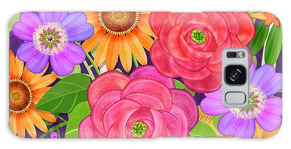 On The Bright Side - Flowers Of Faith Galaxy Case