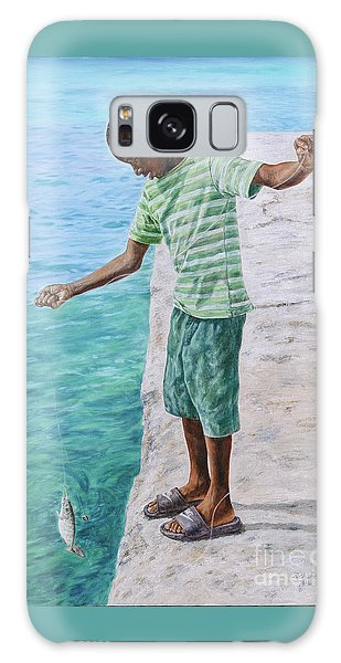 Eleuthera Art Galaxy Case - On The Line by Roshanne Minnis-Eyma