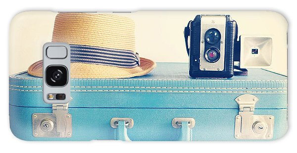 Vintage Camera Galaxy Case - On The Road by Colleen VT