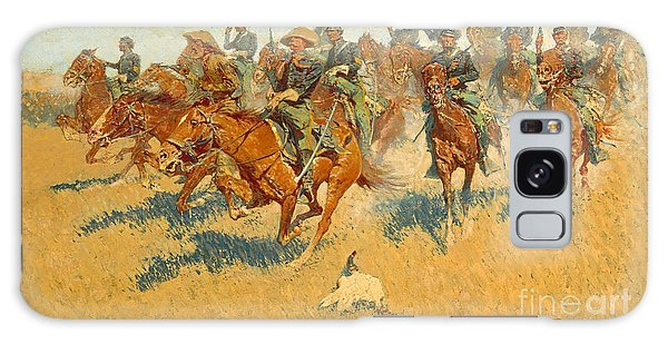 On The Southern Plains Frederic Remington Galaxy Case by John Stephens