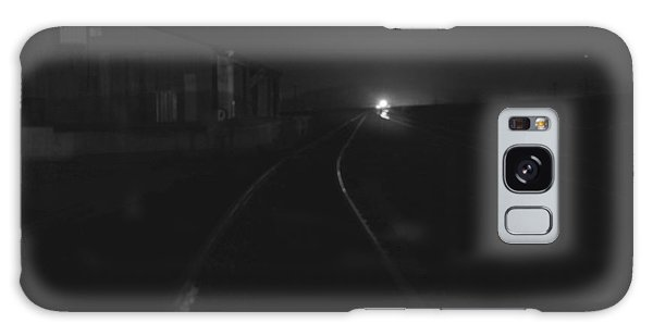 On The Tracks At Night Galaxy Case by Nature Macabre Photography