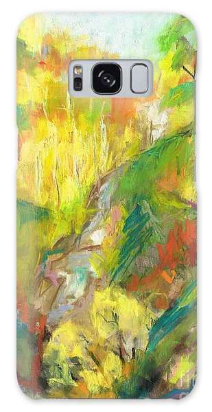 Once A Waterfalls Galaxy Case by Frances Marino
