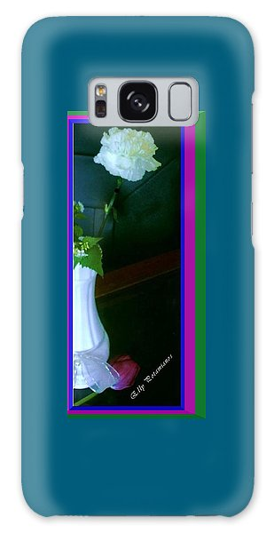 One Carnation And One Rose Bud Galaxy Case