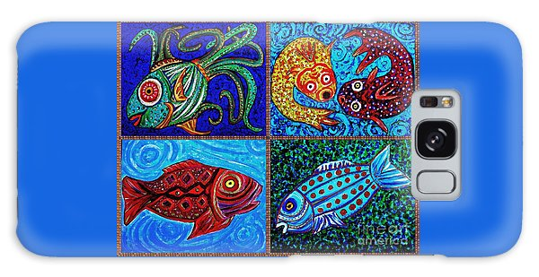 One Fish Two Fish Galaxy Case by Sarah Loft