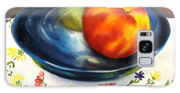One Good Peach Galaxy Case by Carol Sweetwood