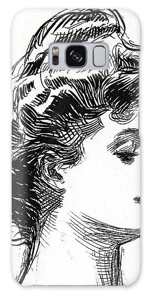 Beautiful Girl Galaxy Case - One Of Charles Dana Gibson's Gibson Girls by Charles Dana Gibson