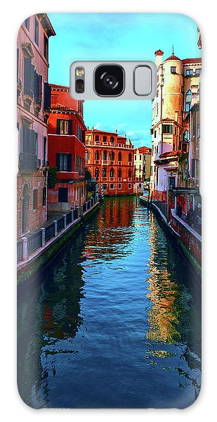 one of the many beautiful old Venetian canals on a Sunny summer day Galaxy Case