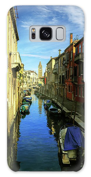 one of the many Venetian canals on a Sunny summer day Galaxy Case