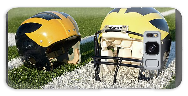 One Old, One New Wolverine Helmets On The Field Galaxy Case
