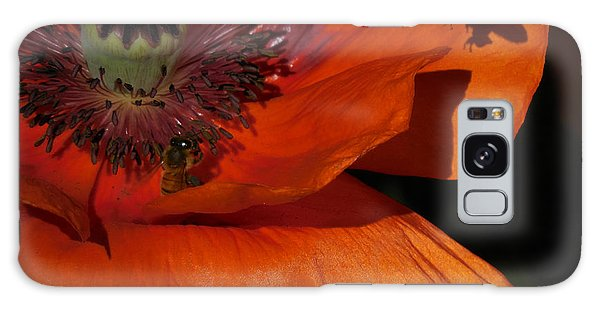 One Poppy And A  Bee Galaxy Case