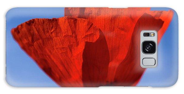 One Red Poppy Galaxy Case