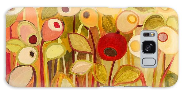 Floral Garden Galaxy Case - One Red Posie by Jennifer Lommers