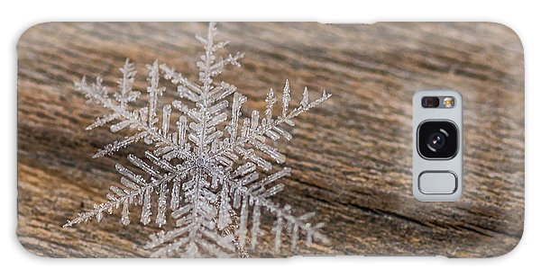 Galaxy Case featuring the photograph One Snowflake by Ana V Ramirez