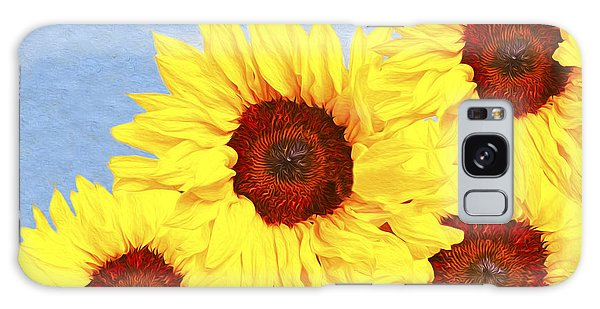 Helianthus Annuus Galaxy Case - One Summer Day by Laura D Young