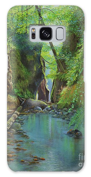 Oneonta Gorge Galaxy Case by Jeanette French