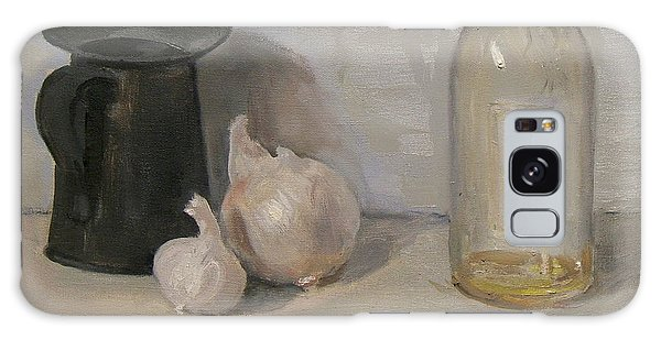 Onion And Garlic, Tin Can And Painting Medium Bottle Galaxy Case