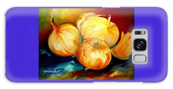 Onions Galaxy Case by Yolanda Rodriguez