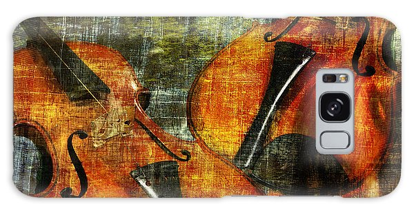 Only Music Heals A Broken Heart Galaxy Case by LemonArt Photography