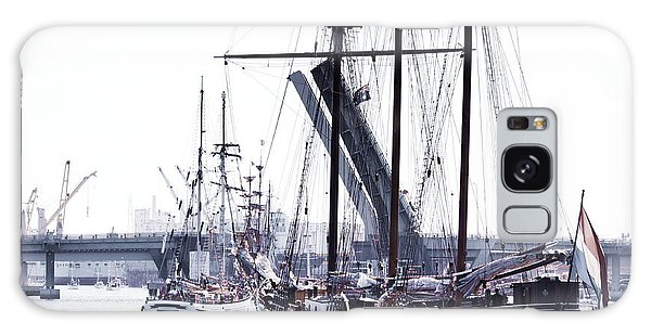 Galaxy Case featuring the photograph Oosterschelde Leaving Port by Stephen Mitchell