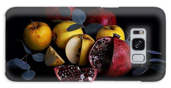 Opal Apples And Pomegranates Galaxy Case