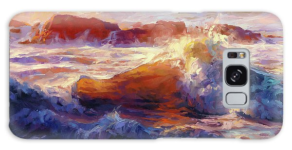Galaxy Case featuring the painting Opalescent Sea by Steve Henderson