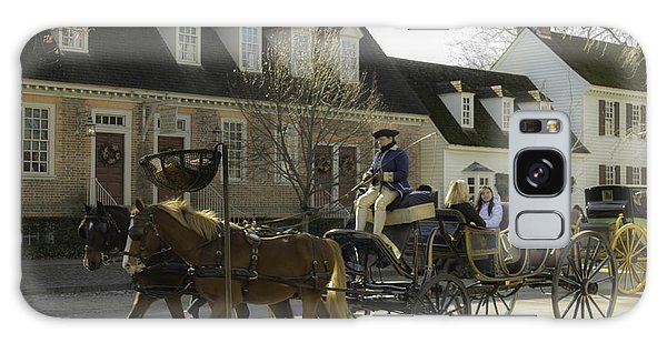 Royal Colony Galaxy Case - Open Carriage Ride In Colonial Williamsburg Virginia by Teresa Mucha