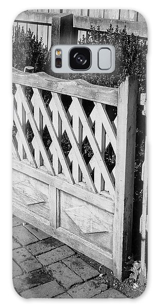 Royal Colony Galaxy Case - Open Garden Gate B W by Teresa Mucha