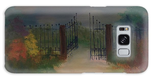 Galaxy Case featuring the painting Open Gate by Denise Tomasura