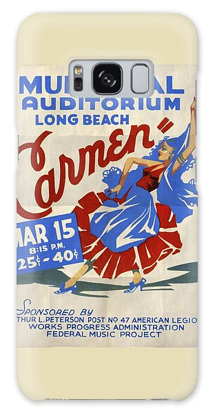 Opera Carmen In Long Beach - Vintage Poster Folded Galaxy Case