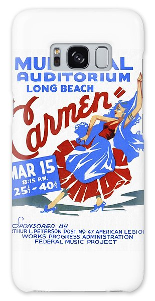 Opera Carmen In Long Beach - Vintage Poster Restored Galaxy Case