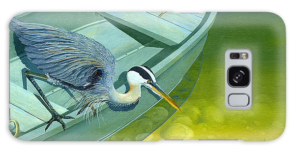 Herons Galaxy Case - Opportunity-the Great Blue Heron by Gary Giacomelli