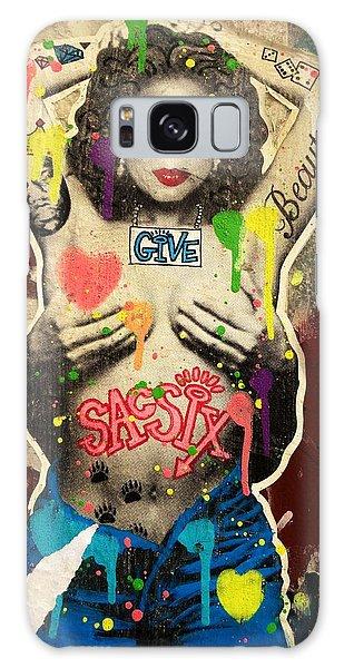 Oprah Winfrey Graffiti In New York  Galaxy Case