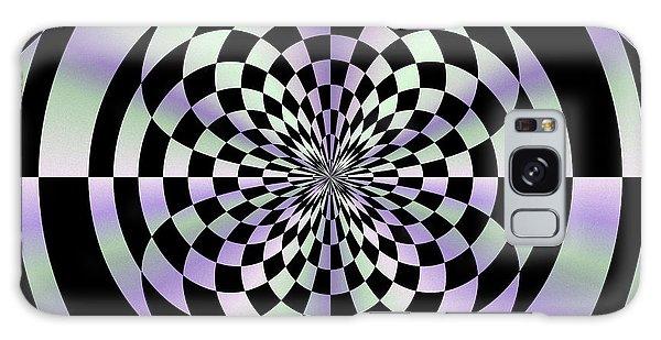 Optical Checkerboard Galaxy Case