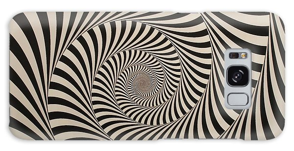 Optical Illusion Beige Swirl Galaxy Case