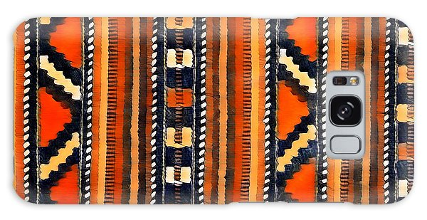 Orange Abstact Pattern Lines And Stripes Galaxy Case
