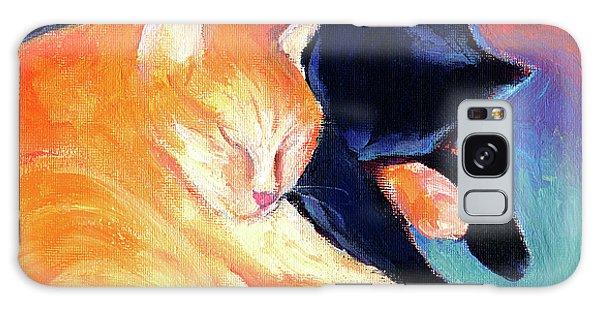 Orange And Black Tabby Cats Sleeping Galaxy Case