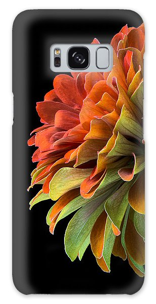 Orange And Green Zinnia  Galaxy Case