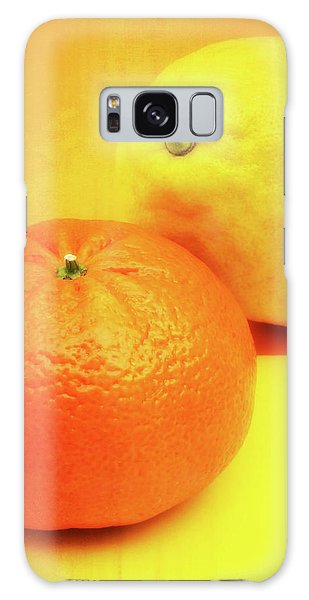 Orange And Lemon Galaxy Case by Wim Lanclus