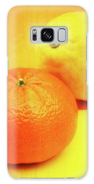 Orange And Lemon Galaxy Case