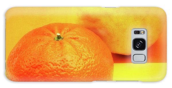 Orange And Lemon Galaxy Case