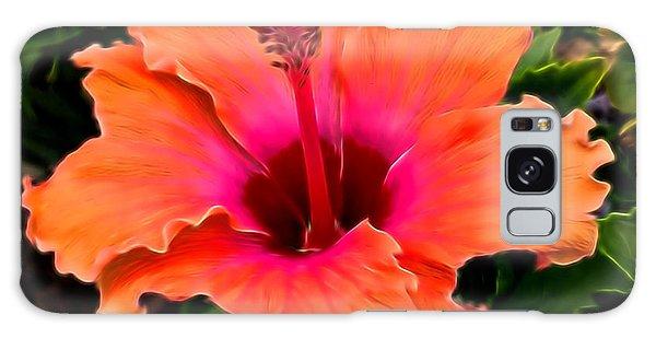 Orange And Pink Hibiscus 2 Galaxy Case