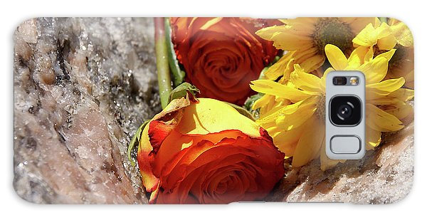 Orange And Yellow On Pink Granite Galaxy Case