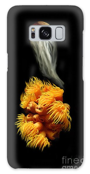 Orange Anemone Galaxy Case